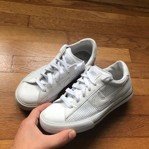 White Leather Nike Sneakers